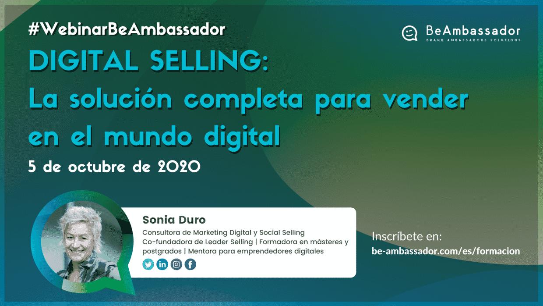 Hablamos sobre Digital Selling en el webinar gratuito con Sonia Duro Limia